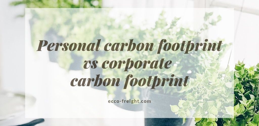 personal carbon footprint vs corporate carbon footprint